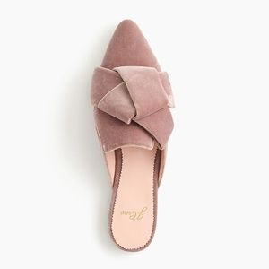 J. Crew Women's Pointed-Toe Slides in Velvet